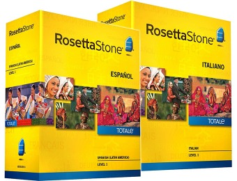 64% off Rosetta Stone Language Learning Software, 20 Languages