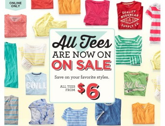 Old Navy Sale - All Men's & Women's Tees are on Sale