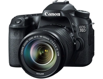 $200 off Canon EOS 70D Digital SLR Camera w/ 18-135mm IS STM Lens