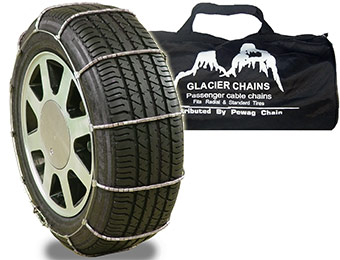 56% off Set of 2 Glacier 1026 Passenger Cable Tire Chains