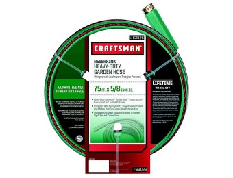 $15 off Craftsman 75ft. Heavy Duty Neverkink Self-Straightening Hose