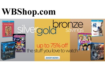 WBShop.com Sale - Up to 75% off Movies & TV Shows