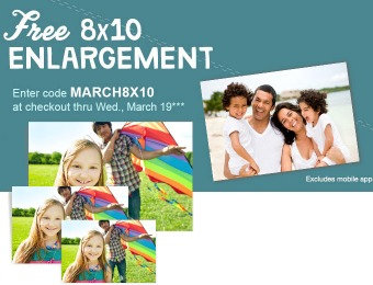 "Free 8"" x 10"" Photo Print / Enlargement"