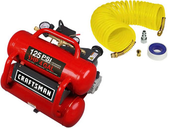 $70 Off 4 Gallon Craftsman Air Compressor and Hose Kit