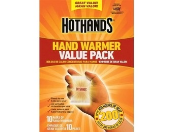 80% off HotHands Hand Warmers 10 Pair Value Pack