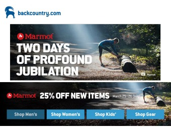 25% off New Marmot Items at Backcountry.com