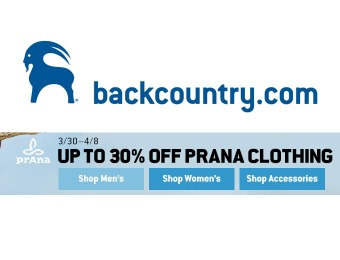 Save Up to 30% Off prAna Clothing at Backcountry.com