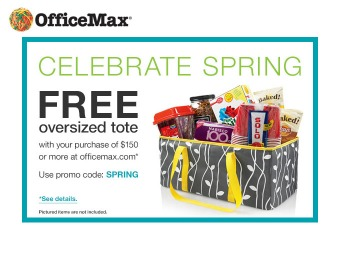 Free Oversized Tote with $150+ Orders at Office Max
