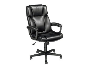 $75 off OfficeMax Breckland High Back Executive Leather Chair