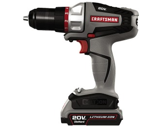 $90 off Craftsman Bolt-On 20V Max Lithium Ion Drill/Driver Kit