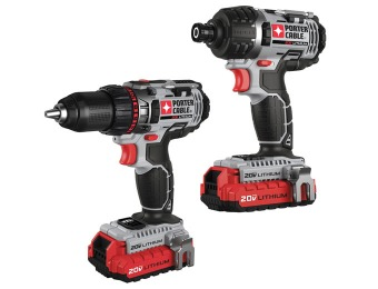 $170 off Porter-Cable PCCK602L2 20V MAX Lithium 2 Tool Combo Kit