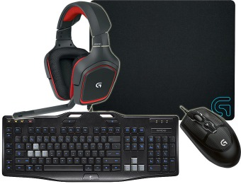 $40 off Logitech Gaming Headset, Keyboard, Mouse & Mouse Pad
