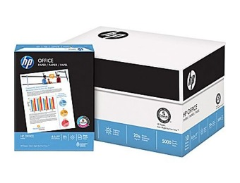 "$135 off HP Office Paper, 8 1/2"" x 11"", Case - 5000 Sheets"