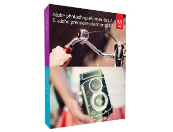 $75 off Adobe Photoshop Elements 12 & Premiere Elements 12