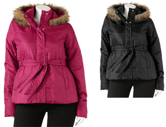 79% Off Juniors Plus SO Puffer Jacket, 4 Colors, 1X,2X,3X