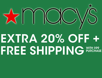 Extra 20% off with Macy's promo code EXTRA