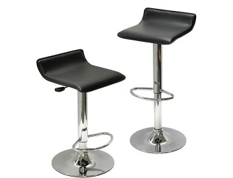 74% off Set of 2 Modern Airlift Bar Stools - Black, Red or White