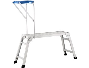 75% off Pentagon Tools Aluminum Atta Boy II Drywall Bench w/ Tray