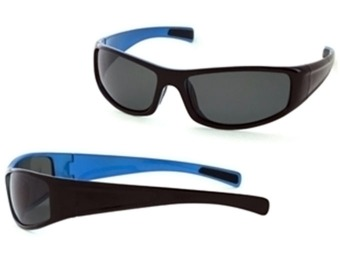 91% off Axcess by Claiborne Men's Black & Light Blue Sunglasses