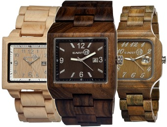 70% off Earth Wood Eco Friendly Men's Watches, 12 Styles