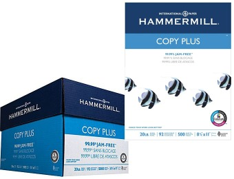 57% off HammerMill Copy Plus Copy Paper, Case - 5000 Sheets