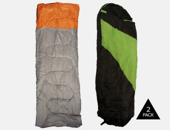 70% off 2-Pack Sleeping Bag in Traditional or Mummy Style