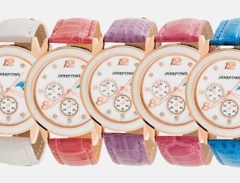 $90 off Sharptime 18kt Slim Women's Watch, 5 Styles