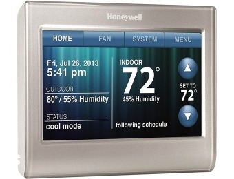 $130 off Honeywell Wi-Fi Smart Thermostat (iOS / Android)