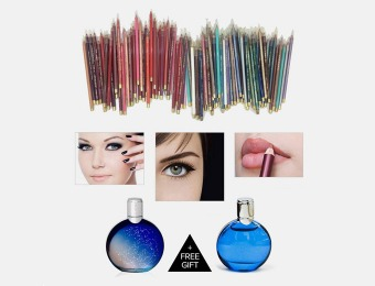 $290 off 40pc Waterproof Eye Pencil/Lip Set - Made in USA