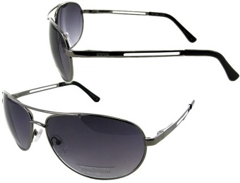 85% off Kenneth Cole Reaction Gunmetal Aviator Sunglasses