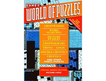 $17 off Games World of Puzzles Magazine, $9.99 / 6 Issues