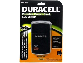 82% off Duracell Portable 1800mAh Power Bank