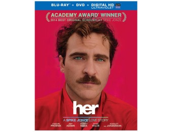 $27 off Her (Blu-ray + DVD + UltraViolet Combo Pack)