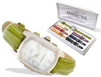 90% off Invicta Lupah Mother of Pearl Dial Leather Women's Watch