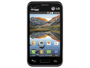 $25 off Verizon Prepaid LG Optimus Zone 2 No-Contract Cell Phone
