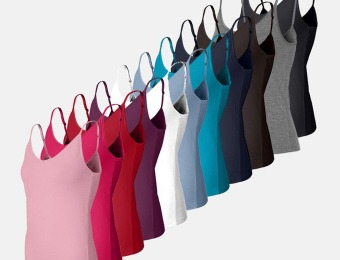 $20 off 12-Pack: Tank Top Camisoles with Adjustable Straps
