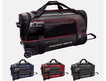 "$142 off Pacific Gear 30"" Drop Bottom Rolling Duffel Bag, 4 Styles"