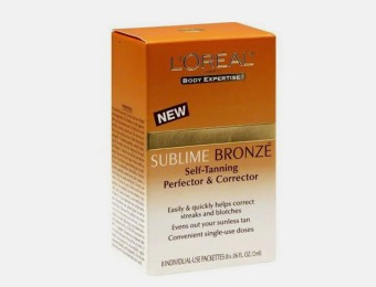 $31 off 5-Pack L'Oreal Sublime Bronze Self-Tanning Packets