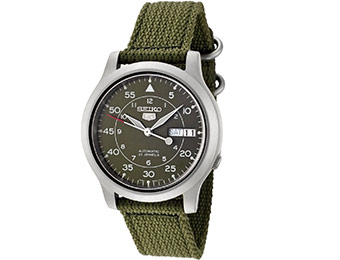 81% off Seiko SNK805 Automatic Green Canvas Strap Men's Watch
