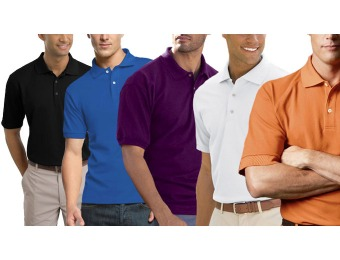 63% off 5-Pack: Gildan Classic Pique Polo Shirts