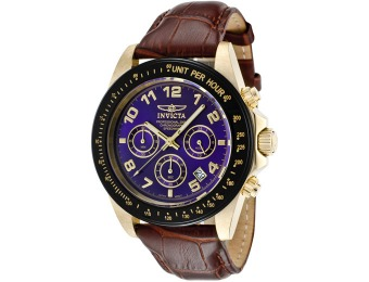 91% off Invicta 10710 Speedway Leather Men's Watch