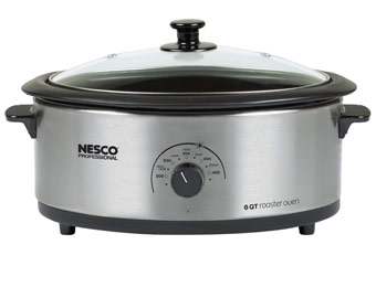 33% Off Nesco Professional 6-Quart Stainless Steel Roaster Oven