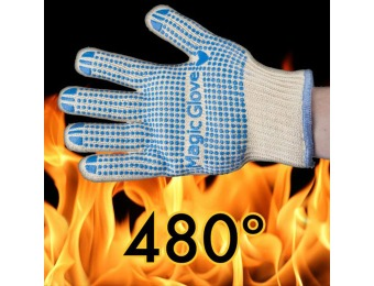 85% off 2-Pack Flame Resistant Magic Gloves with No-Slip Grip