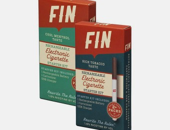 90% off FIN Premium Rechargeable E-Cigarette Starter Kits