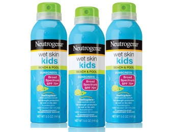 70% off 3-Pack Neutrogena Wet Skin Kids Sunscreen Spray