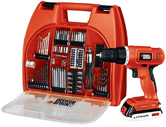 55% off Black & Decker 20-Volt MAX Lithium-Ion Drill Kit