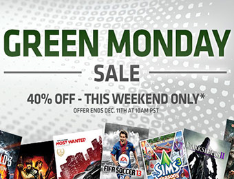 40% Off Top Games - Origin Green Monday Sale