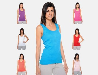 42% off 12-Pack Women's Ribbed Tank Tops - Assorted Colors