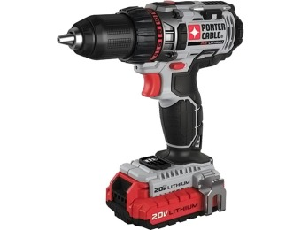 "$181 off Porter-Cable 20V 1/2"" Lithium Ion Drill/Driver + 2 Batt."