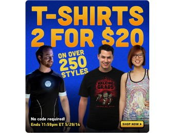 ThinkGeek T-Shirt Sale - 2 for $20 (250+ Styles)